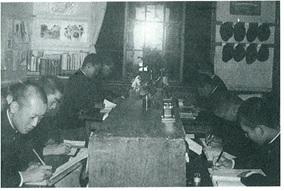 北教大函館校:師範学校当時(自習時間)