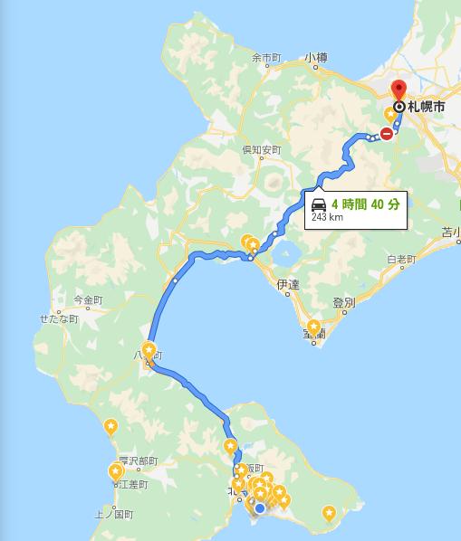 1ヶ月の通学距離を足したら札幌に届いた!